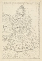 Portrait of Queen Elizabeth I at Hardwick Hall